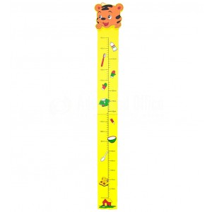 image.Jeux éducatif Règle de mesure enfants murale en bois 145cm Intresting height rule  -  Advanced Office