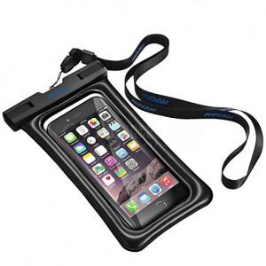 Sac étanche pour Téléphone portable à porte au cou Transparent Blanc