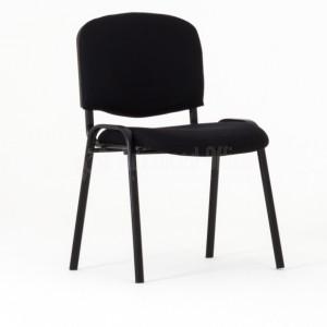 Chaise visiteur en tissu structure IMPERIAL noir  -  Advanced Office