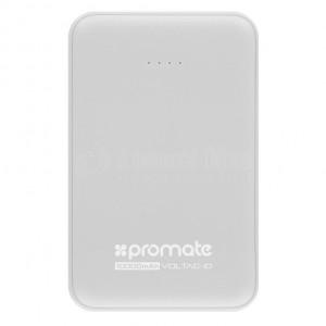Power Bank PROMATE AuraTag-10c, 10 000mAh USB type-C/ Micro-USB Double USB, Blanc