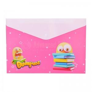 Pochette enveloppe à bouton DELI A4 en PP Motif Bumpees Multi couleurs