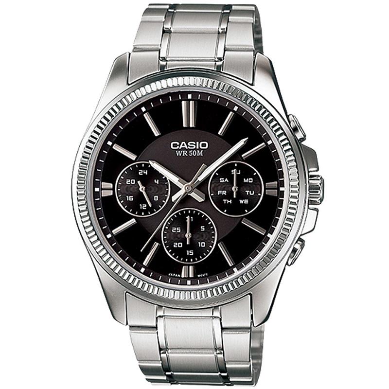 Montre pour homme CASIO MTP-1375D-7AVDF Enticer Bracelet Argenté