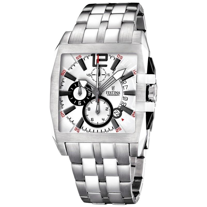 Montre chronographe pour Hommes FESTINA F16393/A Bracelet Argenté