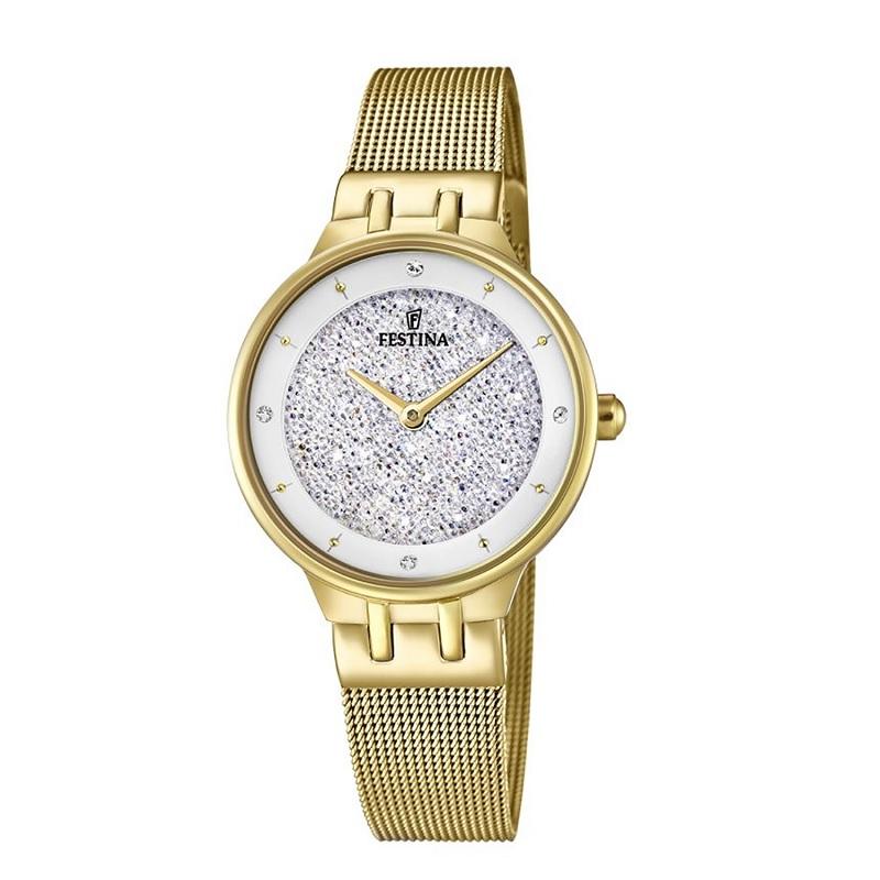 Montre pour Femmes FESTINA F20386 bracelet en maille Gold