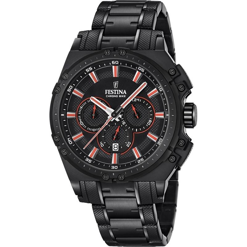 Montre chronographe pour Homme FESTINA Chrono Bike F16969/4 Bracelet en Acier Inoxydable Noir