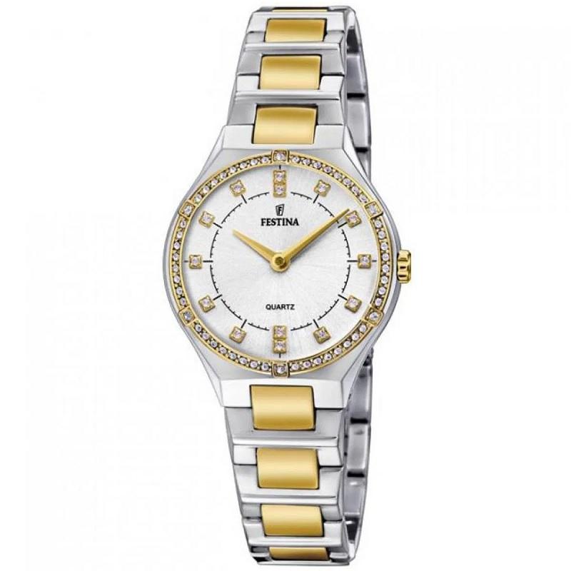 Montre pour femme FESTINA F20226  Bracelet en Acier inoxydable Argent-doré