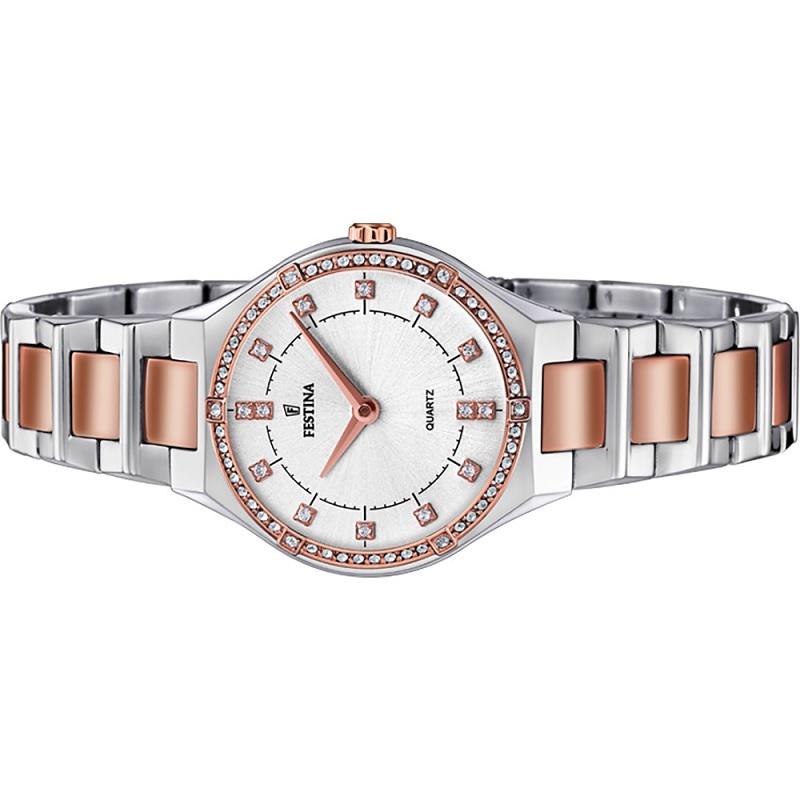 Montre pour femme FESTINA F20226  Bracelet en Acier inoxydable Argent-Rose doré