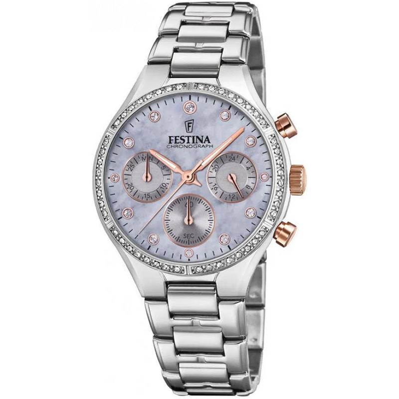 Montre chronographe pour Femmes FESTINA Boyfriend F20401-3 Bracelet Argente