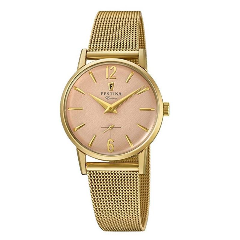 Montre pour Femmes FESTINA F20259 bracelet en maille Gold