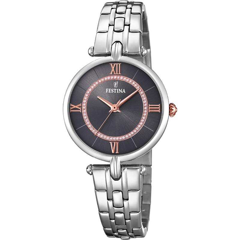 Montre pour Femme FESTINA F20315 Bracelet en Acier Inoxydable Argenté