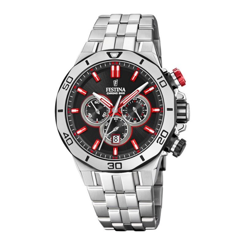 Montre chronographe pour Hommes FESTINA F20448 Bracelet Argenté