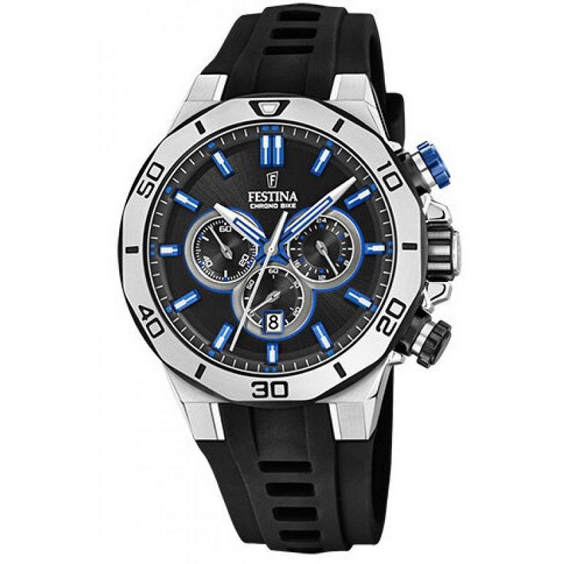 Montre Chronographe pour Hommes FESTINA F20449 Bracelet en silicone Noir