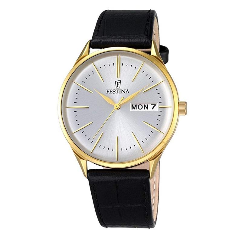 Montre pour Homme FESTINA Retro F6838 Bracelet en cuir Noir