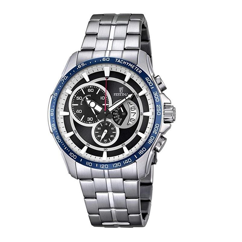 Montre Chronographe pour Hommes FESTINA F6850 à Tachymètre 400, Bracelet Argente