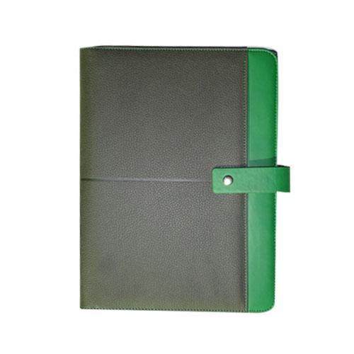 Porte folio A4 Noir/Vert