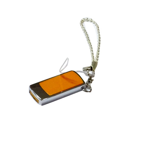 Porte clés flash disque Orange 8Go
