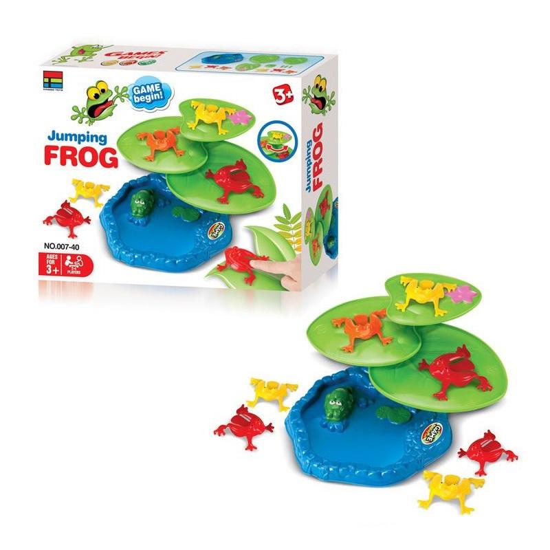 Jeu éducatif familial Jumping Frog, 2-4 joueurs, 3+ ans