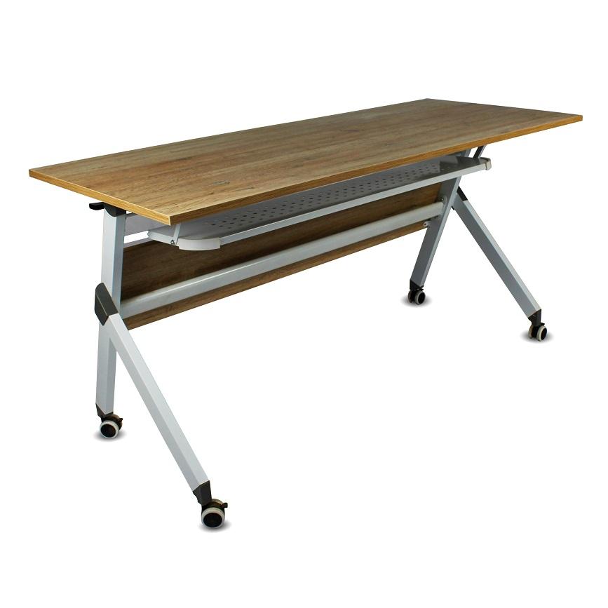 Table pliante TIMGAD 1.40 x 0.60m à roulettes avec casier