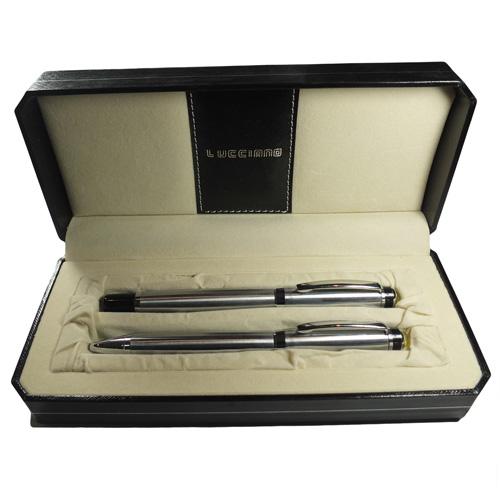 Parrure de 2 stylo LUCCIANO Argenté