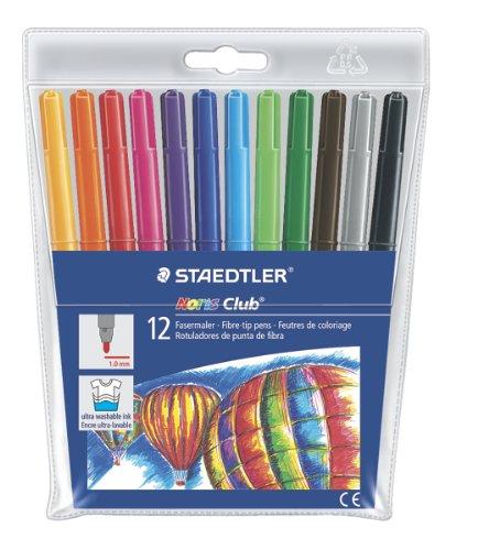 Pochette de 12 Stylos Feutres STAEDTLER Noris Multi-couleurs