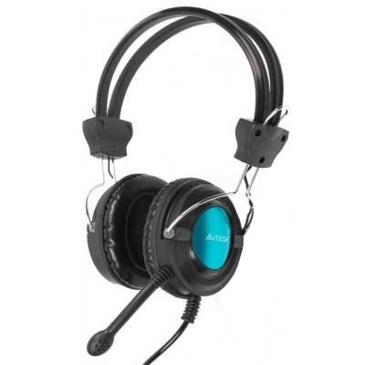 Casque microphone A4TECH ajustable Bleu