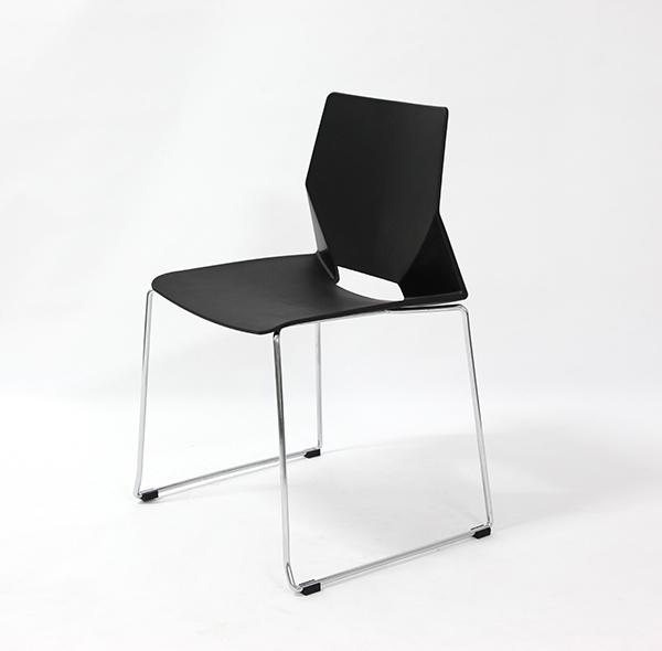 Chaise visiteur MODUS Luge sans accoudoir Série HF, Noir