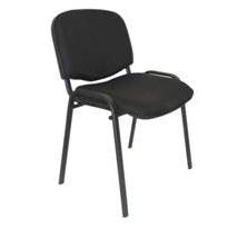 Chaise visiteur en tissu structure IMPERIAL noir