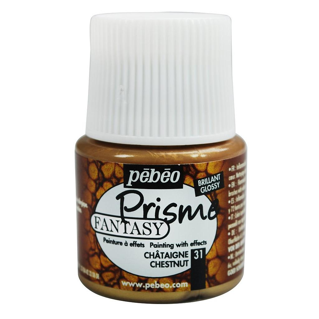 Flacon PEBEO Fantasy prisme 45 ml chataigne