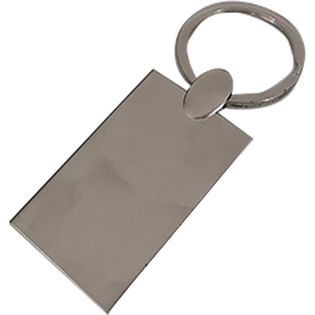 Porte clé métallique chromé