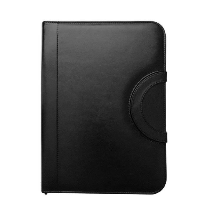 Porte folio A4 à Fermeture, Noir