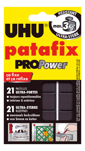 Colle UHU Patafix Propower 21 pastilles