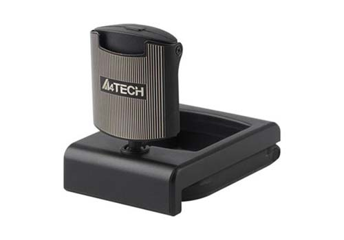 Webcam A4TECH, 16MP, Microphone, Noir