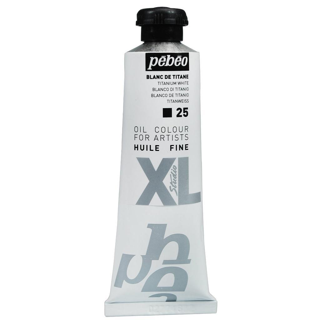 Tube peinture à huile PEBEO Fine Xl Blanc de titane 37 ml