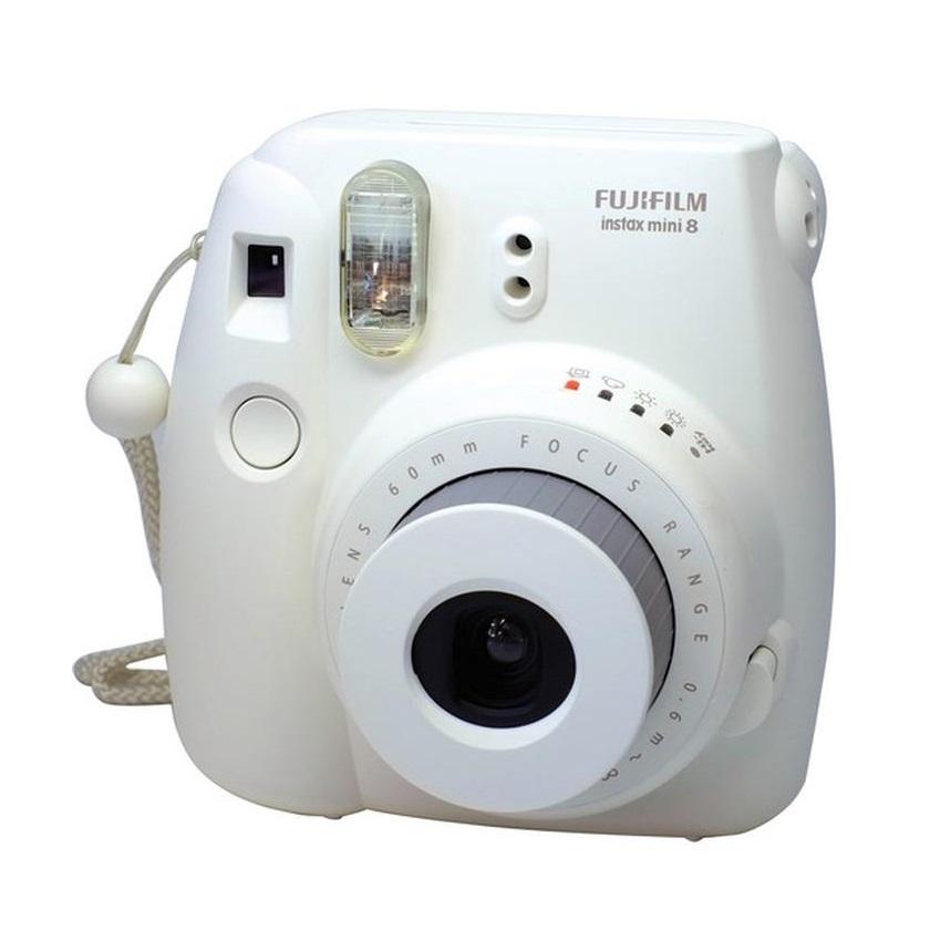 Appareil Photo Minute Instantané FUJIFILM Mini Instax 8 Blanc avec consommable et pochette