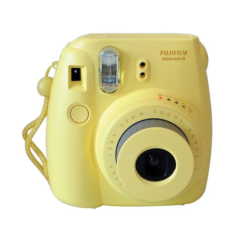 Appareil Photo Minute Instantané FUJIFILM Mini Instax 8 Jaune avec consommable et pochette