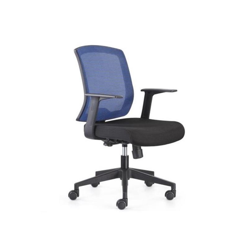 Chaise opérateur filet siège en tissus bleu, série RT