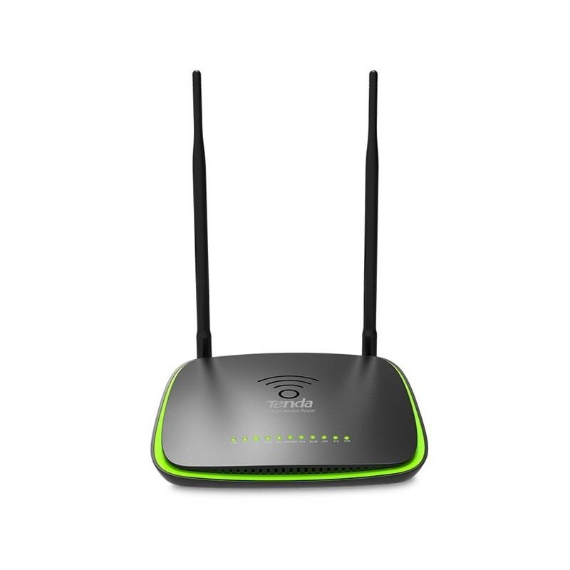 Modem Routeur ADSL2+ sans fil TENDA DH301 300Mps, avec 3 port 10/100Mbps, antennes détachables, port USB