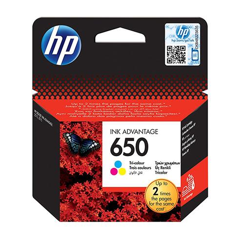 Cartouche HP 650 Couleur pour Deskjet Ink Advantage 2515/ 3515/ 3545/ 4515/ 4645/ 1015/ 1515/ 2545/ 2645