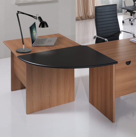 Arrondi de bureau SOLE ECO 180° Made in Italy Noir