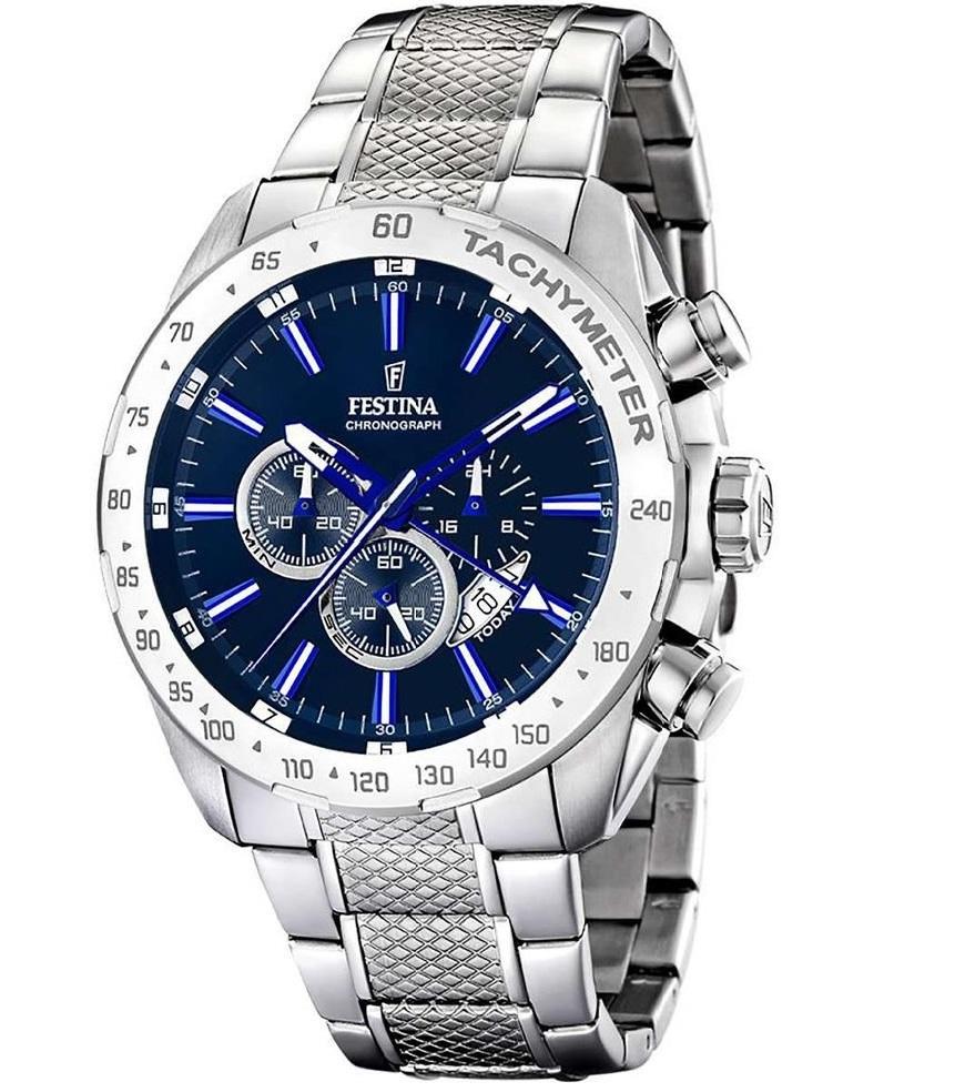 Montre Chronographe pour Hommes FESTINA F16488 Bracelet Argente