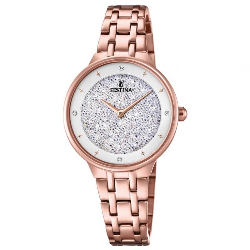 Montre chronographe pour Femme FESTINA F20384 Bracelet en Acier Inoxydable Rose