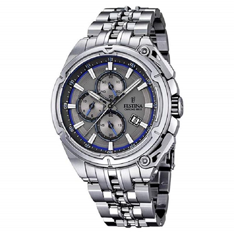 Montre chronographe pour Homme FESTINA F16881 Bracelet Argenté