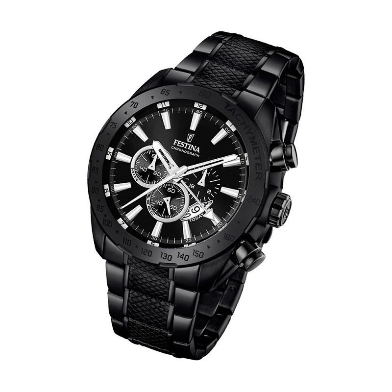 Montre chronographe pour Homme FESTINA F16889 Bracelet en Acier Inoxydable Noir
