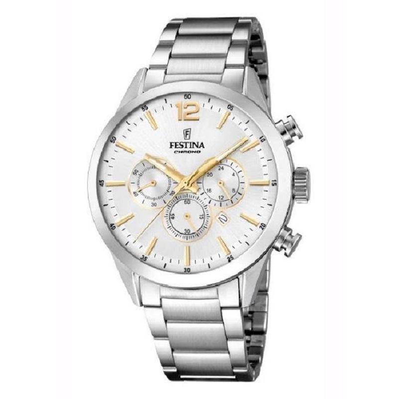 Montre chronographe pour Hommes FESTINA F20343 Bracelet Argenté