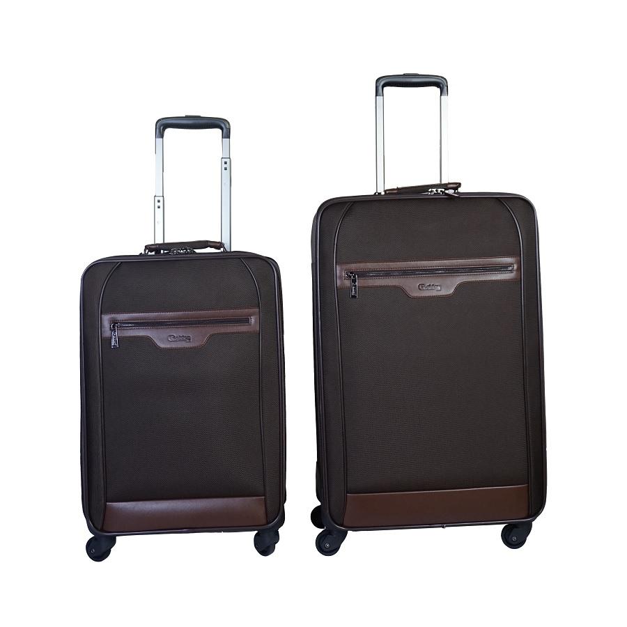 Enssemble de 2 valises de voyage à roulette GOLDEN 72426-24 Noir