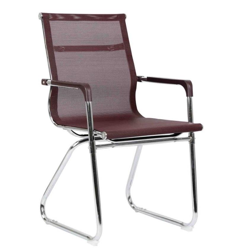 Chaise visiteur filet TXW-2021 siège en tissu Noir avec accoudoir, Piétement Chromé