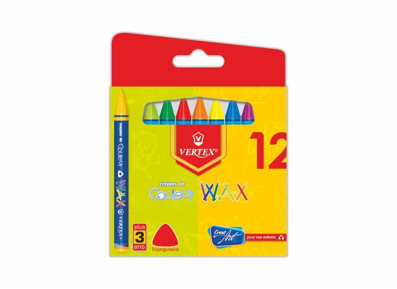 Boite de crayon couleur cire VERTEX Wax PM VS-0419
