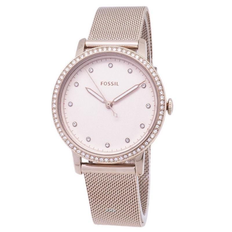 Montre femme FOSSIL Neely ES4364 Bracelet maille milanaise Doré-rose
