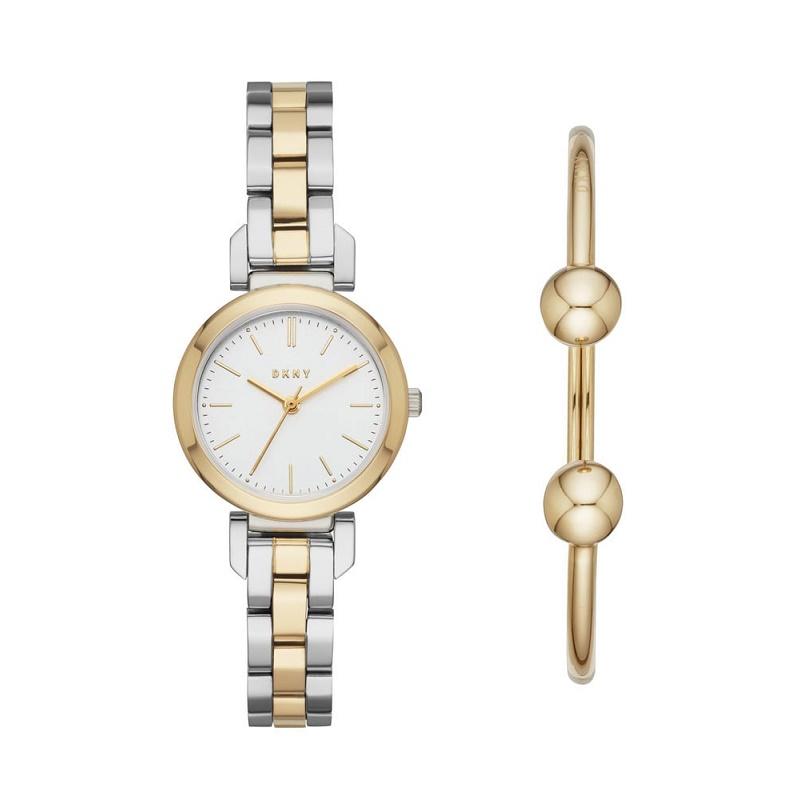 Montre Femme DKNY Ellington Ensemble NY2678 Bracelet bicolore Argente-doré