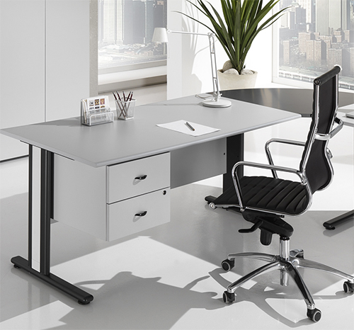 Bureau SOLE ECO 0.80 x 0.80m Made in Italy Gris